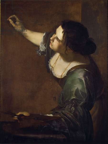 Self portrait as the allegory of Painting (La Pittura) 1638-39 (oil on canvas)