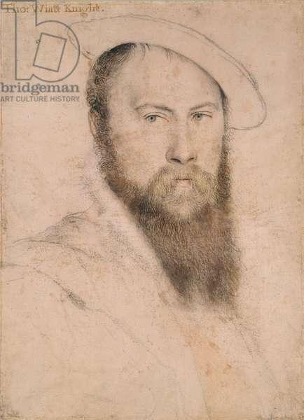 Sir Thomas Wyatt, c.1535-37 (chalk with pen & ink on paper)
