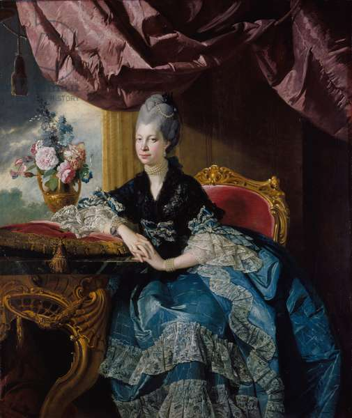 Queen Charlotte, 1771 (oil on canvas)