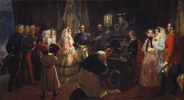 Queen Victoria at the Tomb of Napoleon, 24 August 1855, 1860 (oil on canvas)