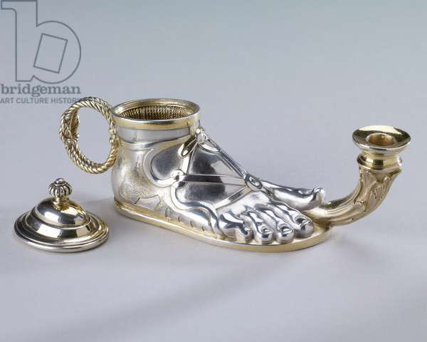 Inkwell, 1845-46 (silver gilt)
