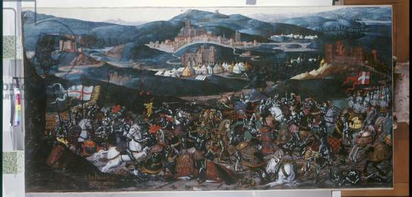 The Battle of the Spurs, 16 August 1513, c.1513 (oil on canvas)