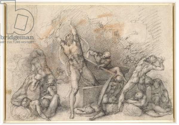 The Resurrection, c.1532 (black & red chalks on paper)