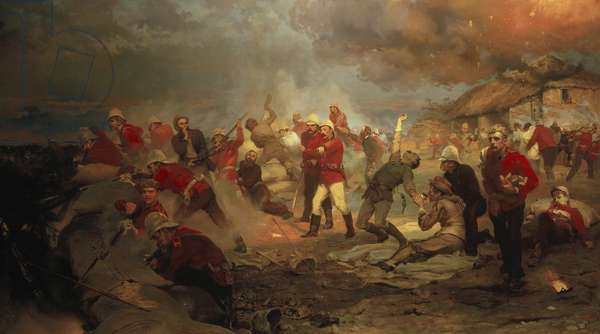 The Defence of Rorke's Drift, 1880 (oil on canvas)