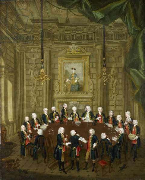 Frederick, Prince of Wales, with members of 'La Table Ronde', 1732 (oil on canvas)