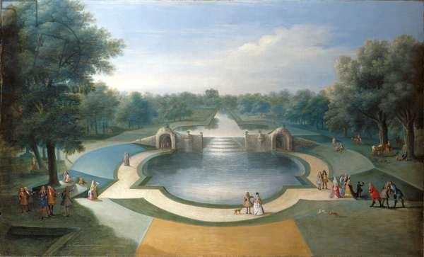 A view of the cascade, Bushy Park Water Garden, c.1715 (oil on canvas)