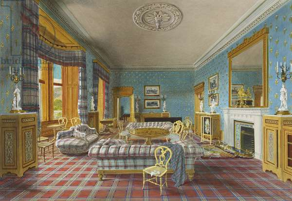 Balmoral: the Drawing Room, 1857 (w/c & bodycolour on paper)