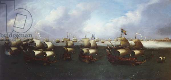 The Return of the Fleet with Charles I, when Prince of Wales in 1623, c.1623-30 (oil on canvas)