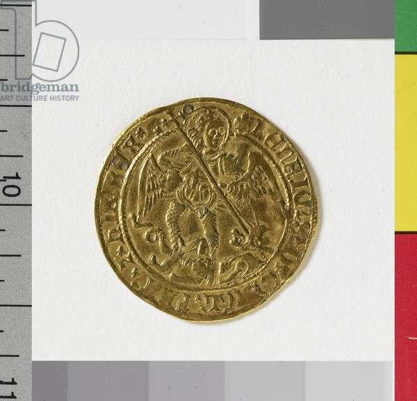 Angel of Henry VIII, London Mint, 1544-47 (gold)
