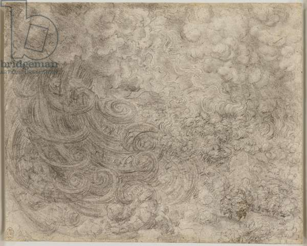 A deluge, c.1517-18 (chalk on paper)
