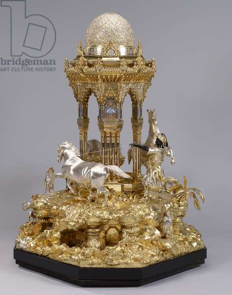 The Alhambra table fountain, 1852-53 (silver, parcel gilt, enamel)