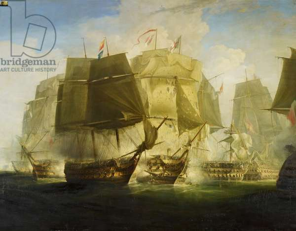 The Battle of Trafalgar: I. The Beginning of the Action: The 'Victory' Breaking the Line, 1833 (oil on canvas)
