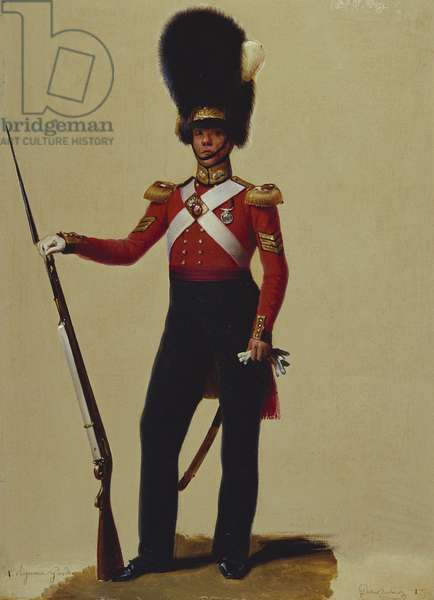 Sergeant William Bryant, Grenadier Guards, 1831 (oil on card)