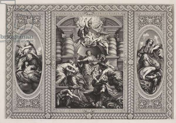 The Union of the Crowns, ceiling, Banqueting House, Whitehall (engraving)