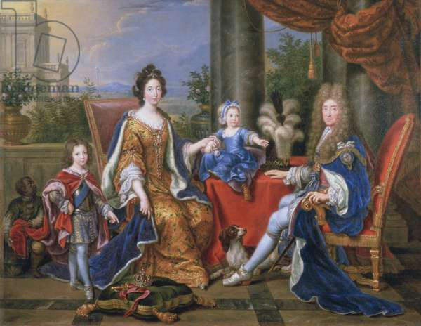 James II and family, 1694 (oil on canvas)