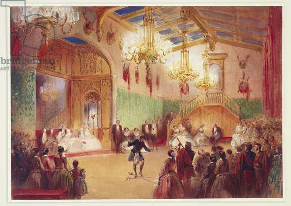 The Gillies' Ball (w/c on paper)