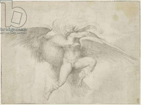 The Rape of Ganymede (chalk on paper)