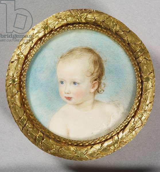 Albert Edward, Prince of Wales, 1843 (w/c on ivory)