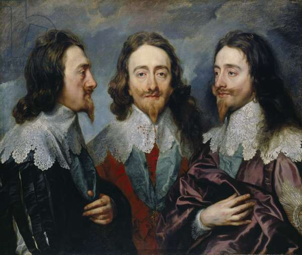 Charles I in three positions, 1635 (oil on canvas)
