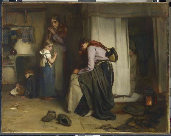 No Tidings from the Sea, 1870 (oil on canvas)