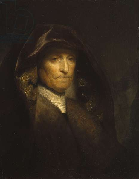 An Old Woman, called 'The Artist's Mother', c.1627-29 (oil on panel)