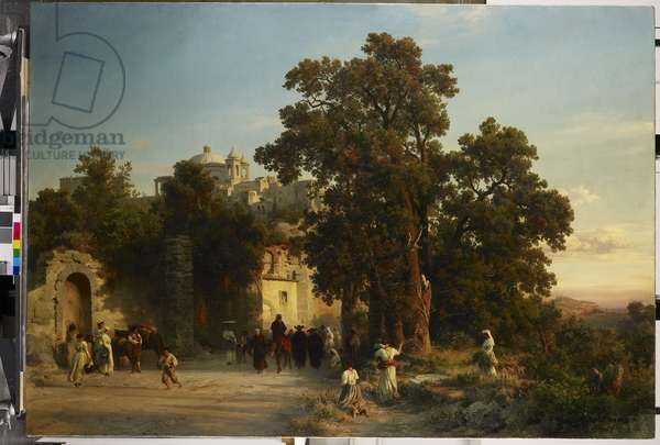 Evening, c.1850-54 (oil on canvas)