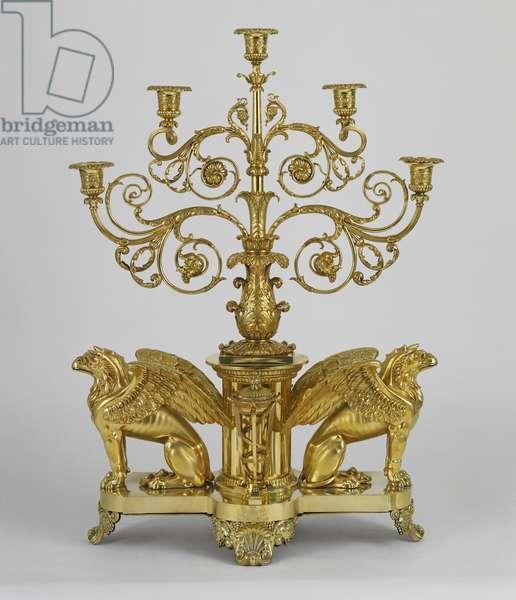 Candelabra, 1811-20 (silver gilt)