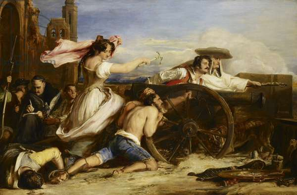 The Defence of Saragossa, 1828 (oil on canvas)
