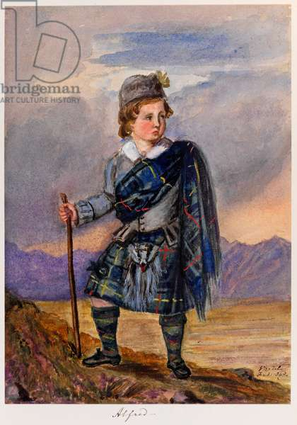 'Alfie', illustration from 'Sketches of the Royal Children'. 1841-59 (w/c on paper)