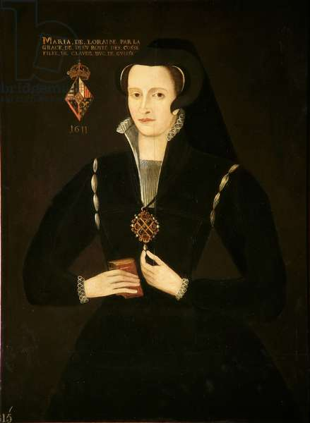 Portrait of a Woman called Mary of Lorraine, Queen of Scotland (1515-60), 1688 (oil on panel)
