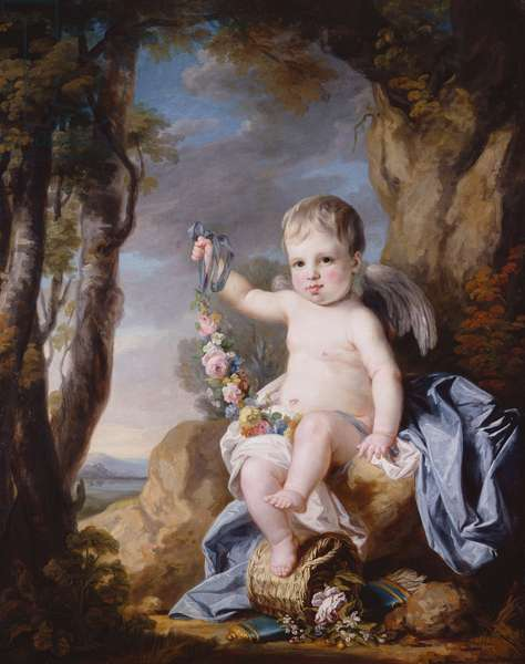 Portrait of a Baby, possibly Prince Edward, c.1768-9 (oil on canvas)