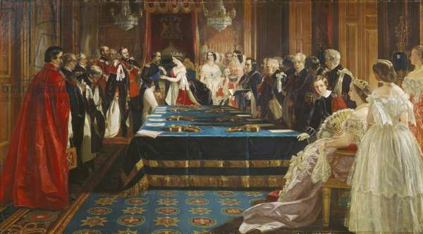 The Investiture of Napoleon III with the Order of the Garter, 18 April 1855, 1860 (oil on canvas)