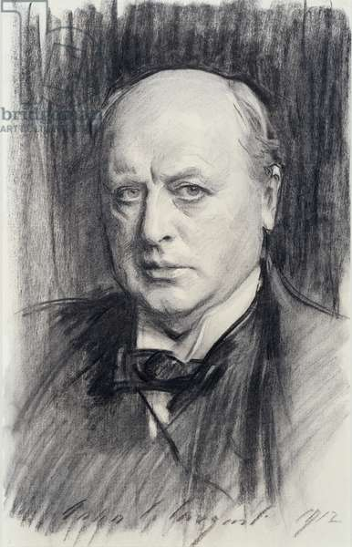 Henry James, 1912 (charcoal on paper)