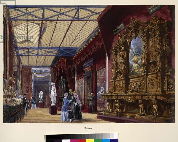 The Great Exhibition: France No.2 dated 1852 (w/c & bodycolour on paper)
