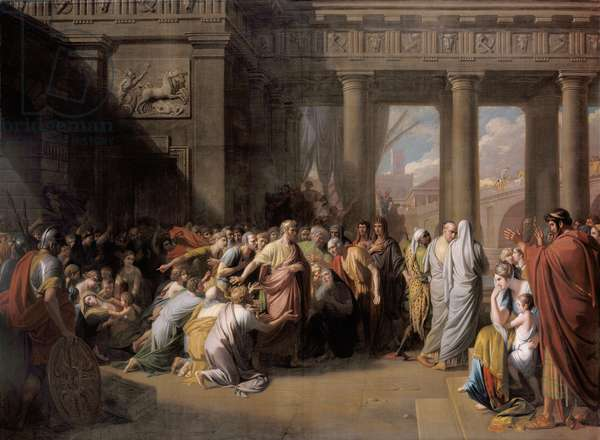 The Departure of Regulus, 1769 (oil on canvas)