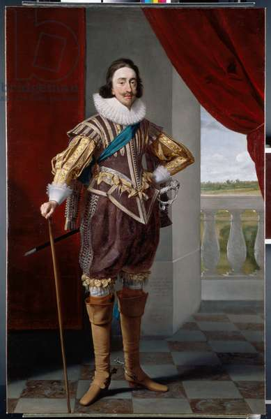 Charles I, 1628 (oil on canvas)