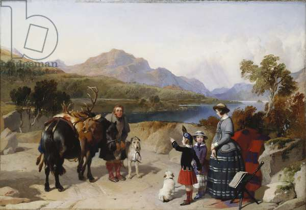 Queen Victoria at Loch Laggan, 1847 (oil on panel)
