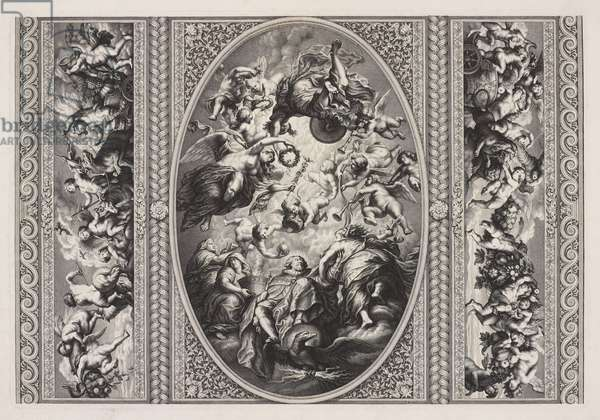 The Apotheosis of James I, ceiling, Banqueting House, Whitehall (engraving)