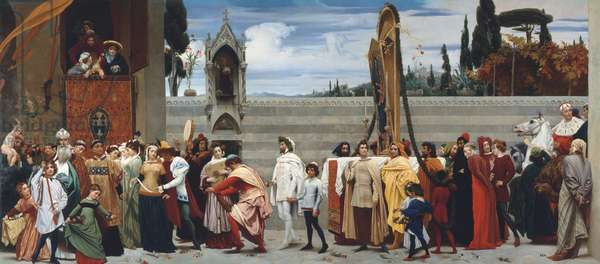 Cimabue's Madonna carried in procession, 1853-55 (oil on canvas)