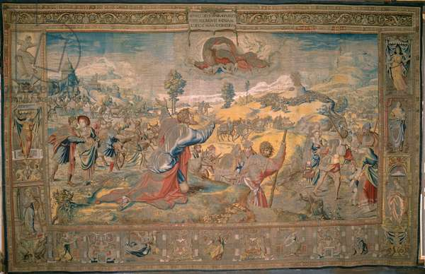 The Departure of Abraham, from 'The Story of Abraham Series', 1543 (wool and silk tapestry with gilt metal-wrapped thread)