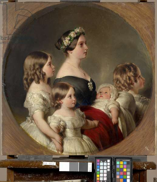 Queen Victoria with her Four Eldest Children, 1845 (oil on canvas)
