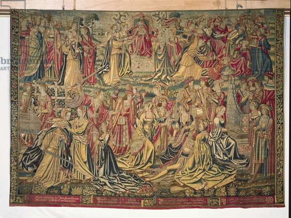 Music, from a series of 'The Seven Deadly Sins' (textile)