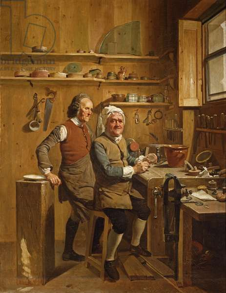 John Cuff and his assistant, 1772 (oil on canvas)