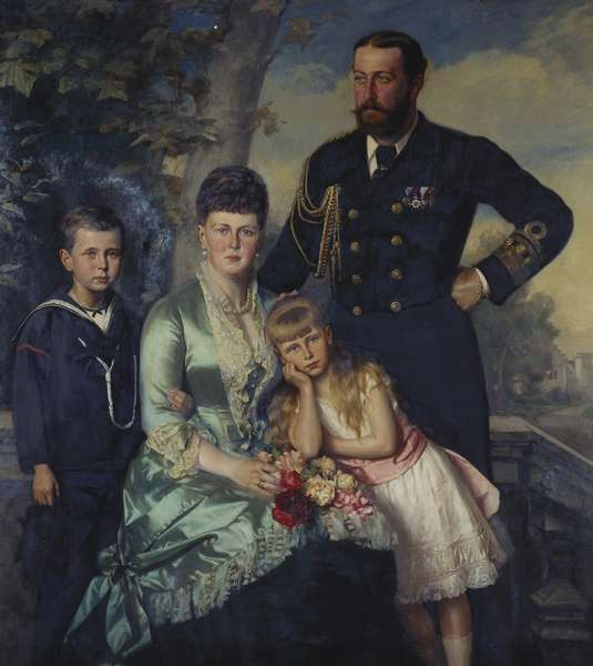 Alfred, Duke of Edinburgh, with his family, 1884 (oil on canvas)
