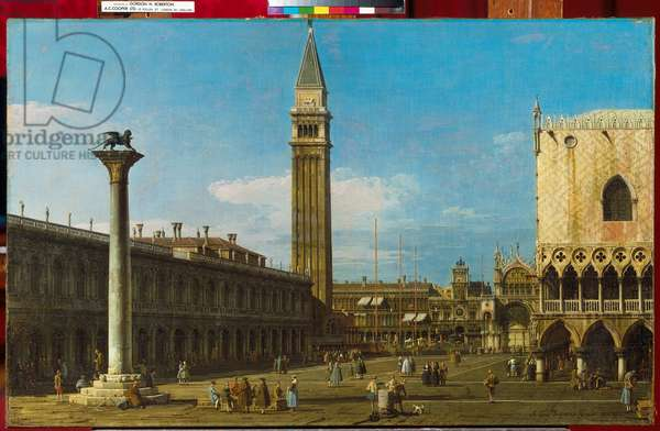 Venice: The Piazzetta Towards The Torre dell' Orologio, 1743 (oil on canvas)