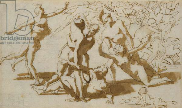The Rape of the Sabines (pen & ink and wash on paper)