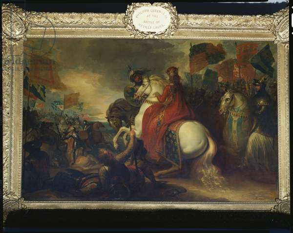 Queen Philippa at the Battle of Neville's Cross, 1789 (oil on canvas)