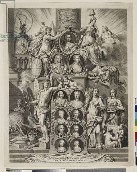 The Hanoverian Succession, 1752 (etching & engraving)