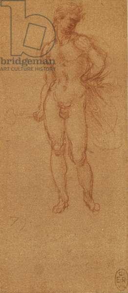 A nude young man (David?)