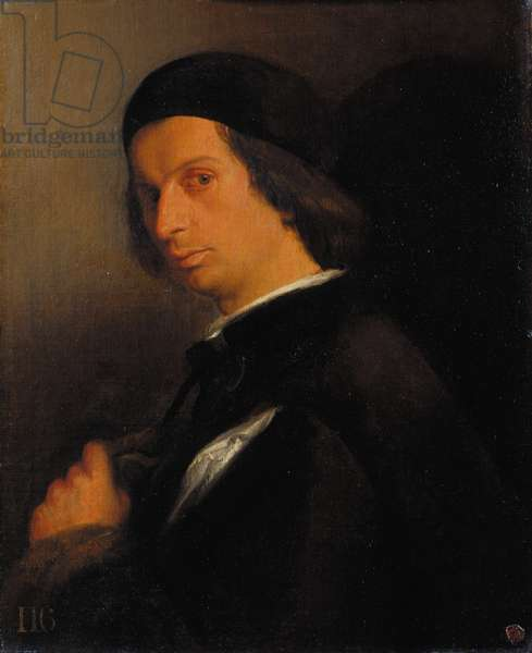 Portrait of a man holding a glove, c.1520-25 (oil on canvas)